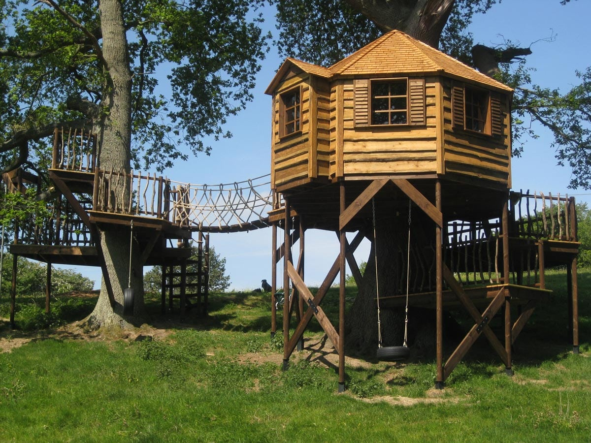 The outdoor world and our skilled installers really do turn dreams into reality please enjoy our large treehouse portfolio and if it inspires you