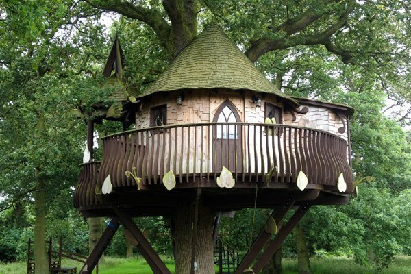 imagine an enchanting tree house retreat high up in a leafy bough - Treehouse